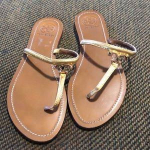 Tory Burch Gold Sandals Women's